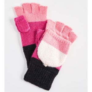 Kate Spade Brushed Colorblock Pop Top Mittens